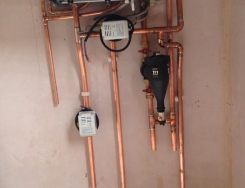 Worcester Bosch boiler with preperation for underfloor heating